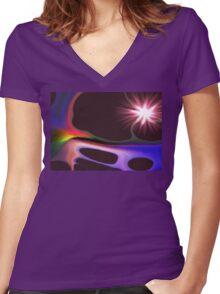 Tree of light Women's Fitted V-Neck T-Shirt
