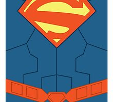 "Superman New 52 ""minimalist"" by averagejoeart"