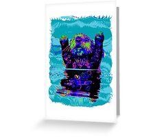 PSYCHEDLIC SEA OTTER Greeting Card