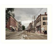 Main Street, Littleton, New Hampshire, Circa 1908 Art Print