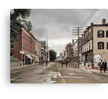 Main Street, Littleton, New Hampshire, Circa 1908 Canvas Print