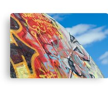 planet graffiti Canvas Print