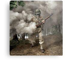 Gas Mask Soldier, Fort Belvoir Virginia 1942 Metal Print