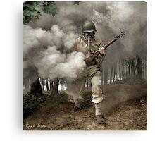 Gas Mask Soldier, Fort Belvoir Virginia 1942 Canvas Print