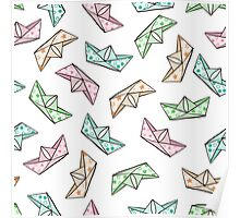 Paper boats Poster