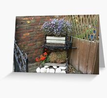 OLD MANGLE SEWERBY BRIDLINGTON Greeting Card