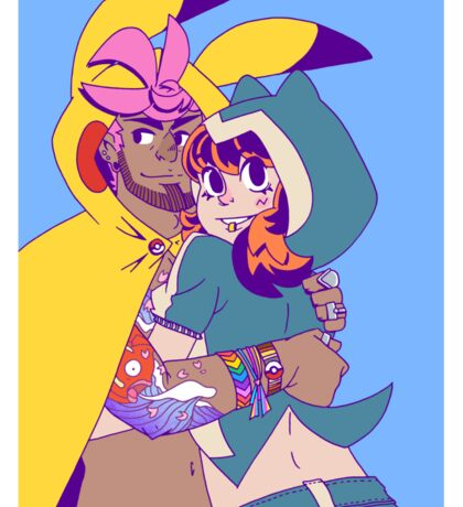 Pokecosplay - Pikachu x Snorlax Sticker