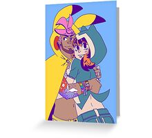 Pokecosplay - Pikachu x Snorlax Greeting Card