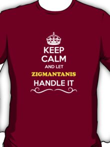Keep Calm and Let ZIGMANTANIS Handle it T-Shirt