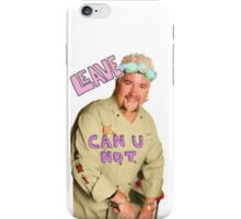 Guy Fieri Flower Crown [Transparent] iPhone Case/Skin
