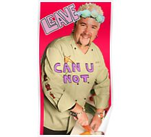 Guy Fieri Flower Crown [Transparent] Poster