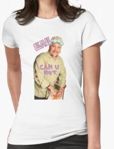 Guy Fieri Flower Crown [Transparent] Womens Fitted T-Shirt