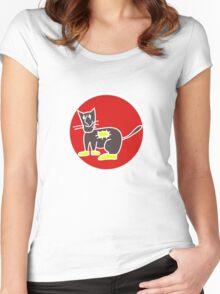 STREET CAT  Women's Fitted Scoop T-Shirt