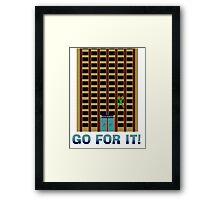 Go For It! Framed Print