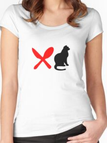 HUNGRY CAT  Women's Fitted Scoop T-Shirt
