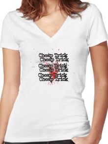 Cheap Trick Style Women's Fitted V-Neck T-Shirt