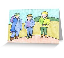 Three boys Greeting Card