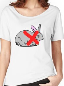 NO PLACE FOR  RABBIT  Women's Relaxed Fit T-Shirt