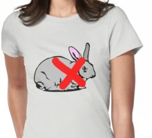 NO PLACE FOR  RABBIT  Womens Fitted T-Shirt