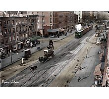 NYC 11th Ave circa 1909 Photographic Print