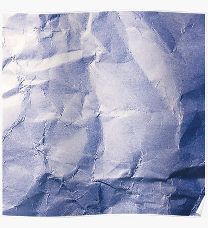 Blue Paper Poster