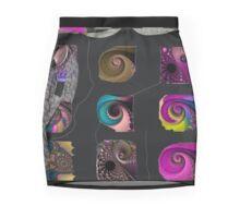 SHELL FRACTAL, grouping, art modern, abstract, multicolor Mini Skirt