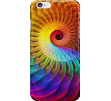 Rainbow Magic Golden Spiral Nautilus iPhone Case/Skin