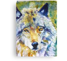 The Great Technicolor Wolf Canvas Print