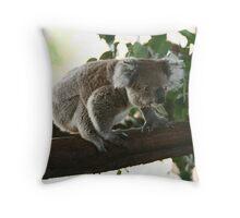Wanna jump koala Throw Pillow