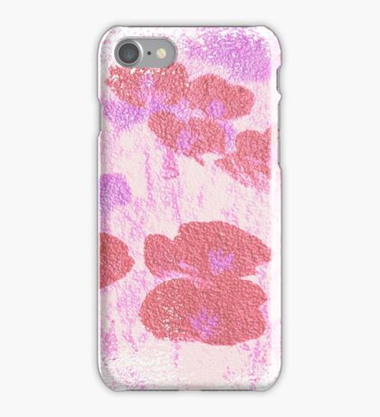 Painted Red Flowers iPhone Case/Skin