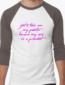 The Pinkprint: Get On Your Knees [Bow Lyric] Men's Baseball ¾ T-Shirt