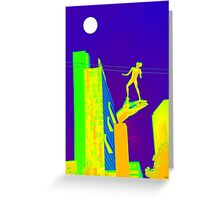 Detroit's Hand of God in the Moonlight Greeting Card