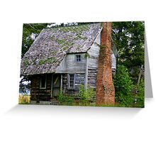 Old Log Cabin.... within your walls? Greeting Card