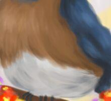 Fluffy Little Bluebird Sticker