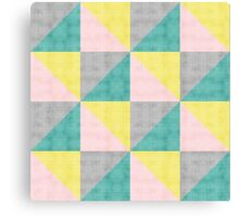 Rinkdink Pink Triangles Canvas Print