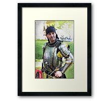 Portrait of a Knight Framed Print