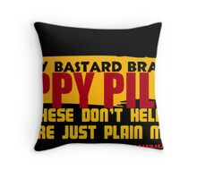 CRANKY BASTARD Throw Pillow