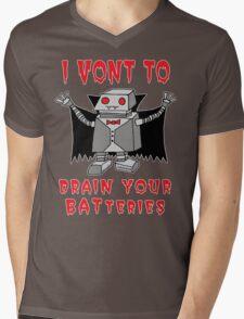 Robot Vampire Mens V-Neck T-Shirt