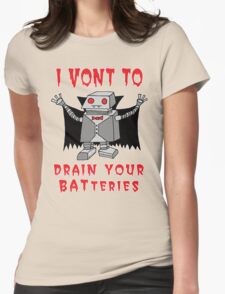 Robot Vampire Womens Fitted T-Shirt