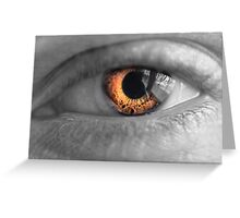 Eyes on Fire Greeting Card
