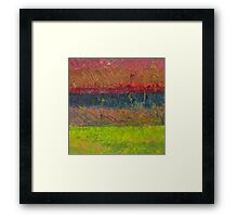 Abstract Landscape Series - Lake And Hills Framed Print