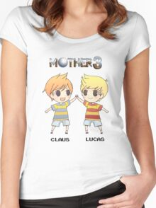Mother 3/ Earthbound 2 Chibis Women's Fitted Scoop T-Shirt