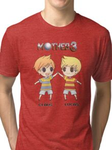 Mother 3/ Earthbound 2 Chibis Tri-blend T-Shirt