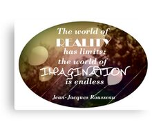 Imagination is the best Policy Canvas Print