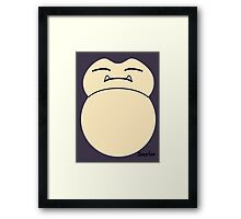 game faces: snorlax Framed Print