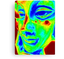 Thinking Woman from Neon City Canvas Print