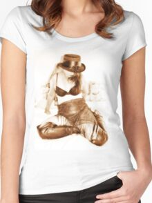 Sepia seduction Women's Fitted Scoop T-Shirt