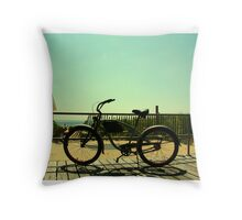 Beach Cruiser Throw Pillow