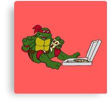 TMNT - Raphael with Pizza Canvas Print