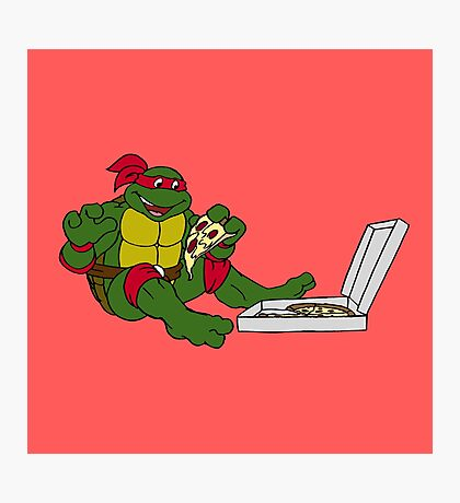TMNT - Raphael with Pizza Photographic Print